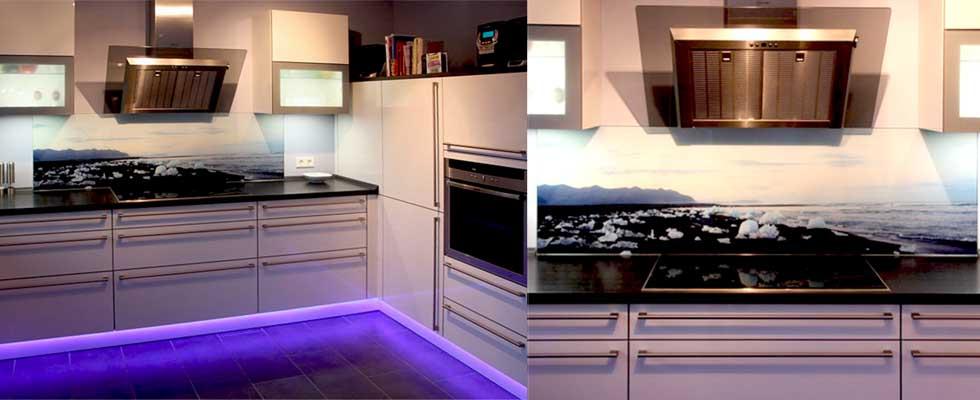 Fliesenspiegel in einer Küche